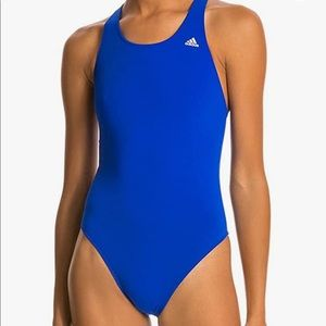 Adidas Solid V Back One Piece Performance Swimsuit